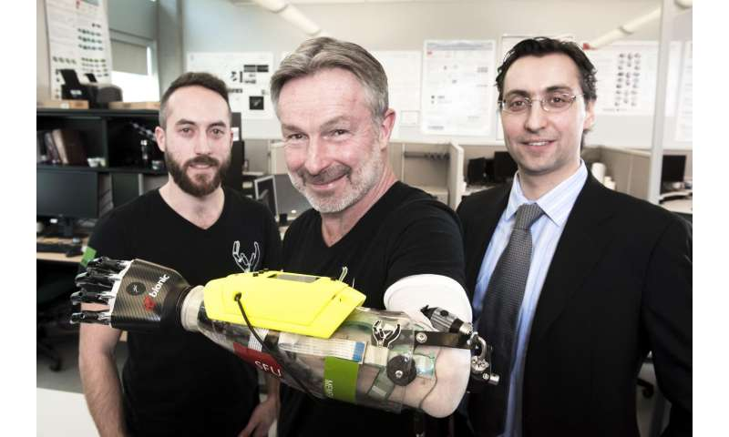SFU researchers build a better bionic hand