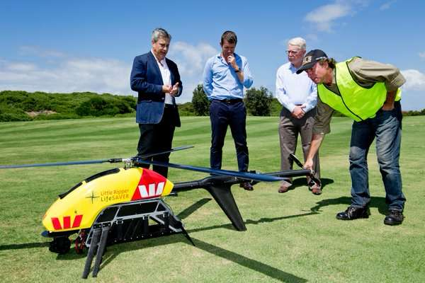 Shark-hunting drone to relay info to emergency services