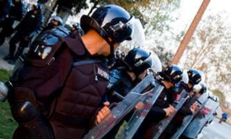 Shields with optical illusion to revolutionise riot policing