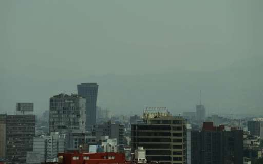 Smog in Mexico City, megacity of more than 20 million people, worsened in March 2016, prompting authorities to issue the first a