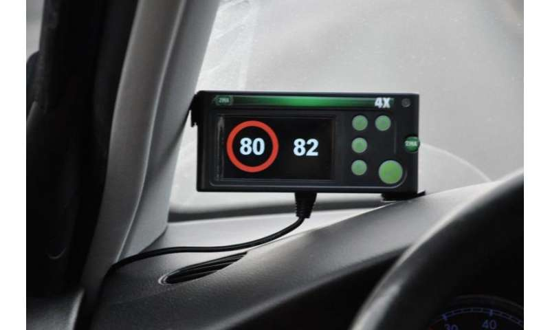 Speed warning system saves lives and reduces emissions
