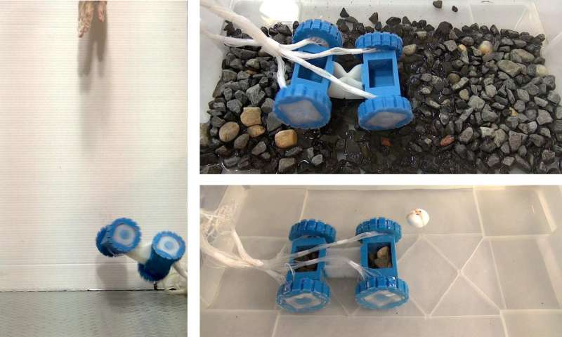 'Squishy' motors and wheels give soft robots a new ride