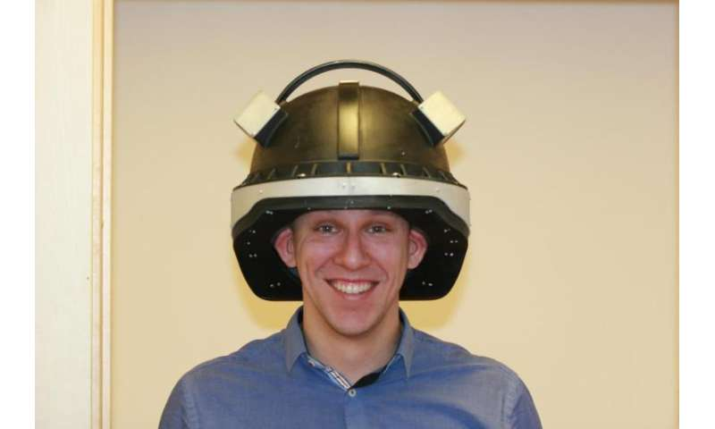"""Star Wars"" helmet for detecting concussion"