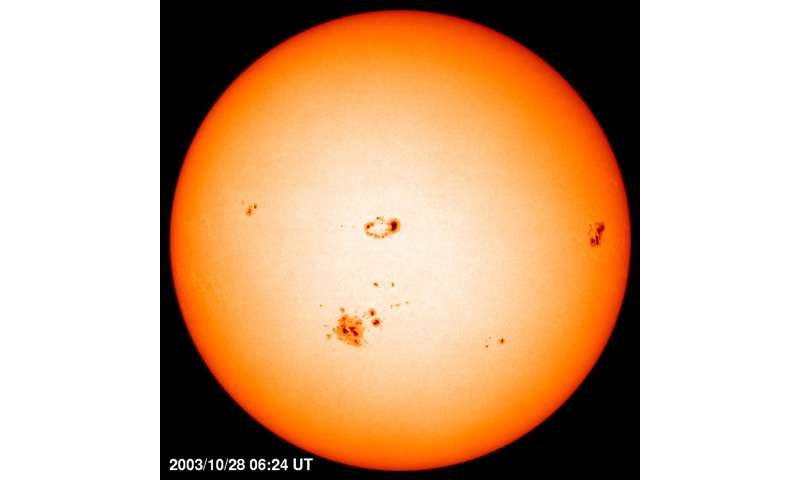Star with different internal driving force than the sun