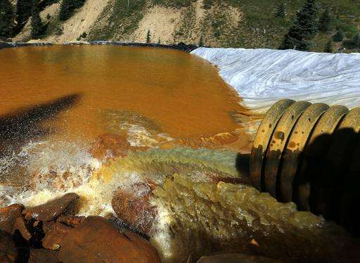 Storms raised some pollutants after mine spill, not others