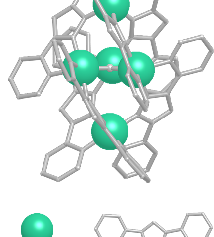 Structure of pentanuclear iron catalyst