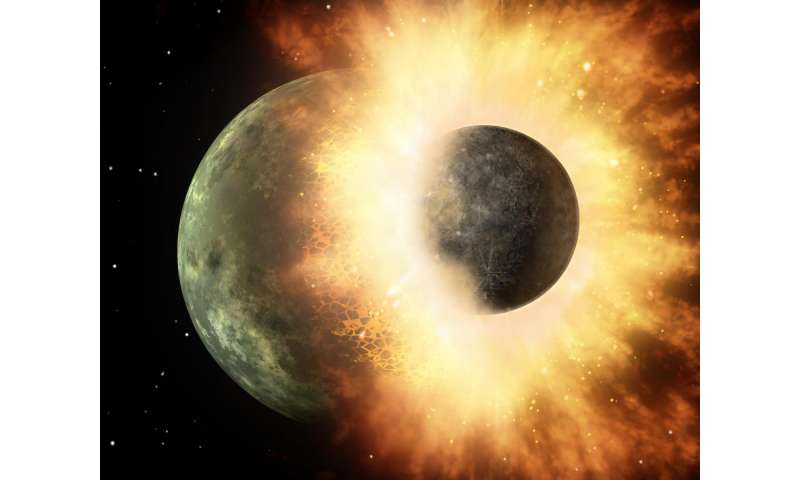 Study: Earth's carbon points to planetary smashup