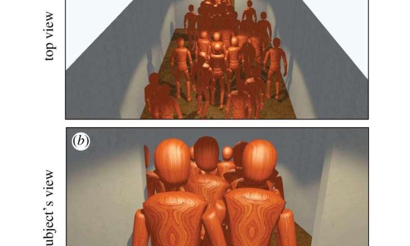 Study investigates crowd behaviour under stress in a virtual environment