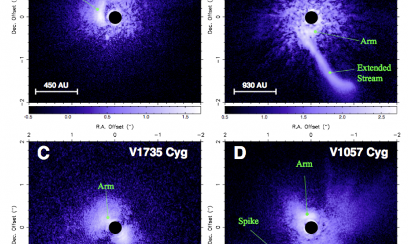 Subaru-HiCIAO spots young stars surreptitiously devouring their birth clouds