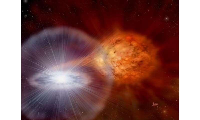 Supernova reserve fuel tank clue to big parents: ANU media release