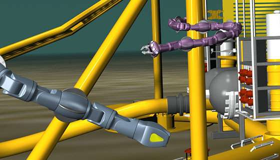 Swimming robots perform snake-like movements for subsea tasks