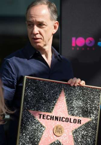 Technicolor CEO Frederic Rose attends a ceremony honoring the company's 100th anniversary, in Hollywood