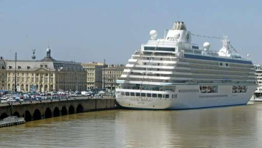 Thanks to climate change, luxury cruise ship Crystal Serenity (pictured in Bordeaux) has undertaken a pioneering journey that wi