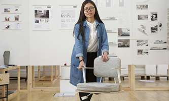 The anti-slouching chair which creates a positive mental attitude