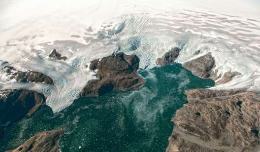 The Greenland ice sheet lost close to two trillion tonnes of ice mass between 2003 and 2013