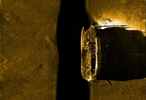 The HMS Erebus ship found by Parks Canada in 2014