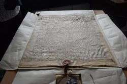 The rights of men: medieval charter from King Edward I authenticated