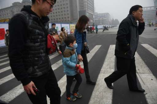 The streets of Shijiazhuang, population 10.7 million, reeked of coal smoke on Wednesday