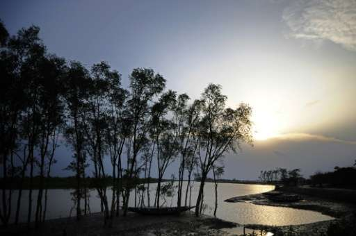 The Sundarbans near Khulna, Bangladesh, is the world's largest mangrove forest and was declared a UNESCO World Heritage Site in