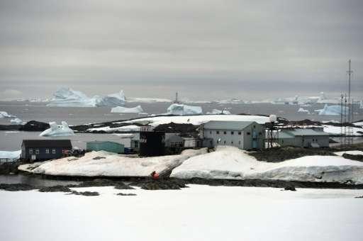 The Vernadsky Research Base, an Ukrainian Antarctic Station at Marina Point on Galindez Island, Antarctica