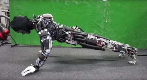 This robot can work up a sweat doing pushups