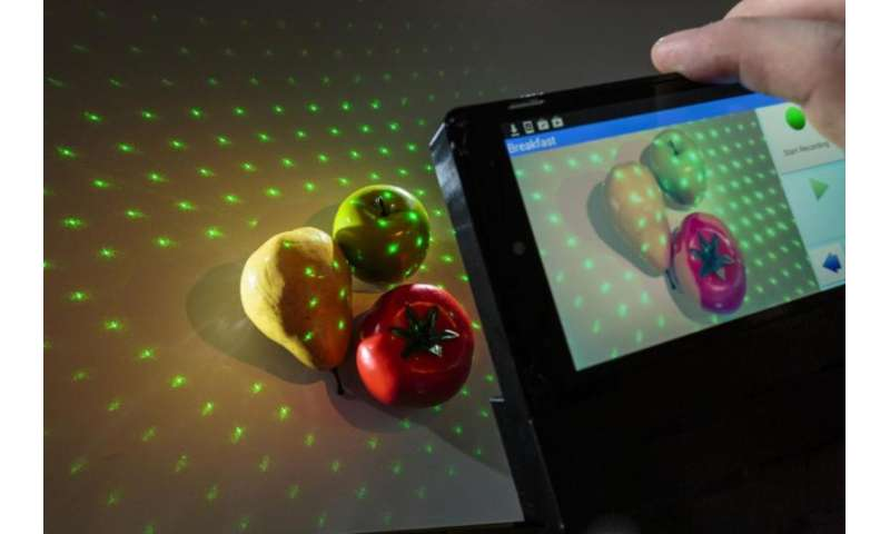 This smartphone technology 3-D maps your meal and counts its calories