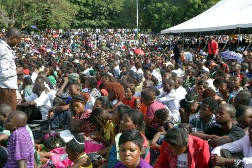 Thousands rally to pray for an end to the economic crisis in Zambia where food prices have soared and crippling power shortages