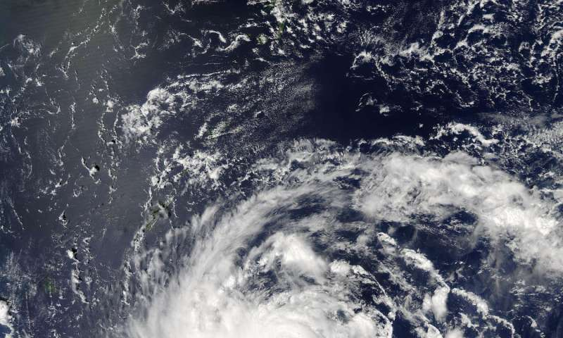 Typhoon Lionrock's intensification seen by NASA's GPM