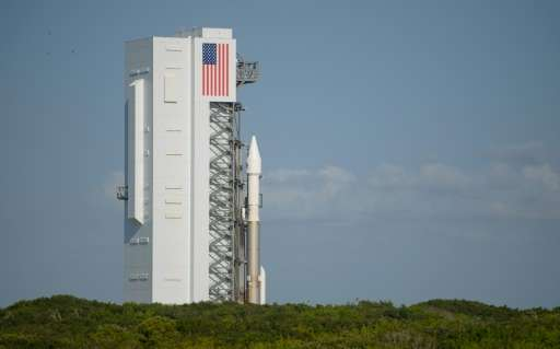 United Launch Alliance Atlas V rocket with NASA's OSIRIS-REx spacecraft on board is seen as it is roll out of the Vertical Integ