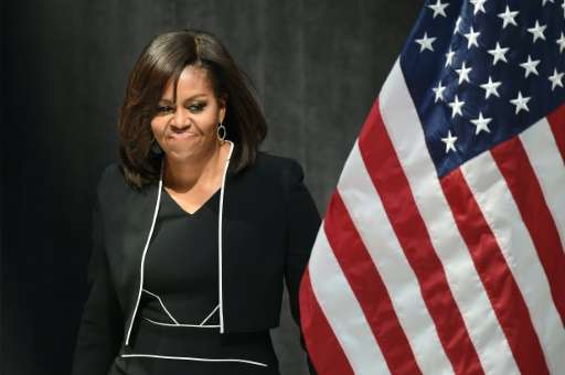 US First Lady Michelle Obama was honored with two Webby Awards in an Online Film and Video category for her parts in Funny or Di