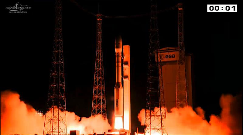 Vega releases five satellites in complex mission