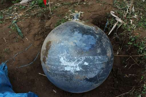 Vietnamese authorities say the metal balls could have fallen from space, from an altitude of less than 100 kilometres (62 miles)