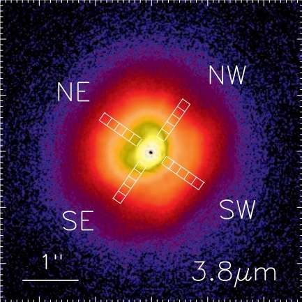 Water ice detected at the surface of a distant star's disk