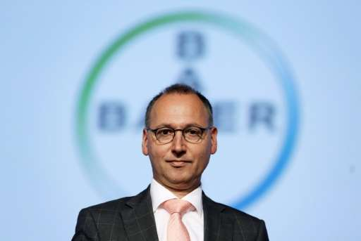 Werner Baumann, designated CEO of German chemicals and pharmaceuticals giant Bayer, at the annual general meeting on April 29, 2