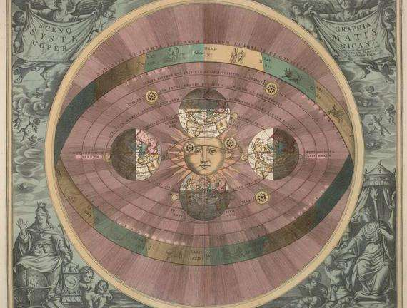 What is the heliocentric model of the universe?
