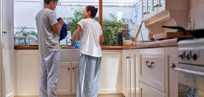 Who does most of the housework in multicultural Britain?