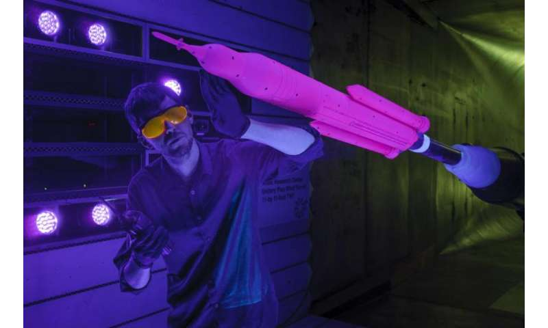 Wind tunnel testing for next version of NASA's space launch system