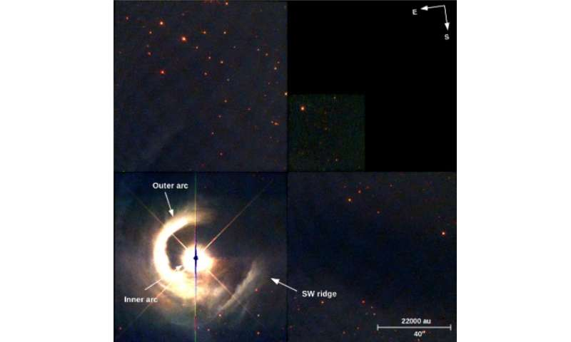 Young star V1331 Cygni unveils its violent past