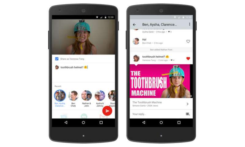 YouTube tests messaging feature to keep people in its app