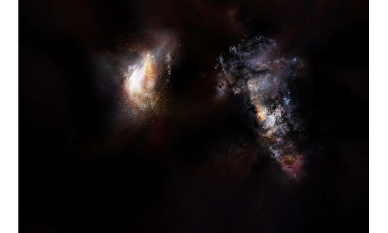 ALMA finds massive primordial galaxies swimming in vast ocean of dark matter