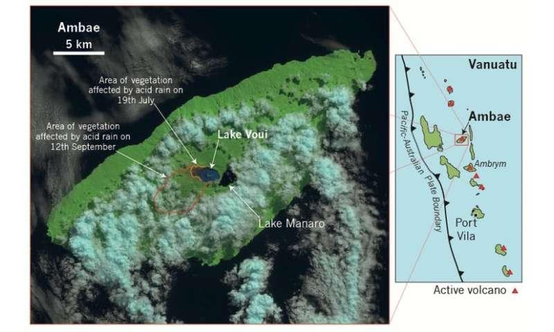 Ambae volcano's crater lakes make it a serious threat to Vanuatu