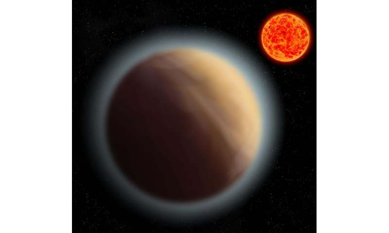 Atmosphere around super-Earth detected