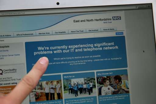 Britain's National Health Service was one of those organisatiuon targeted in last May's WannaCry ransomware attack