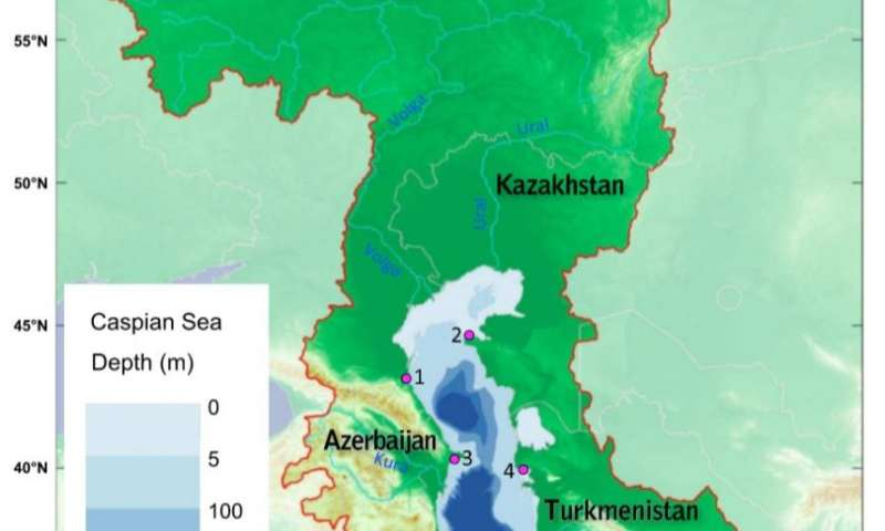 Caspian Sea evaporating as temperatures rise, study finds