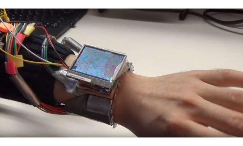 Dartmouth-led team develops WristWhirl, a smartwatch prototype using wrist as a joystick