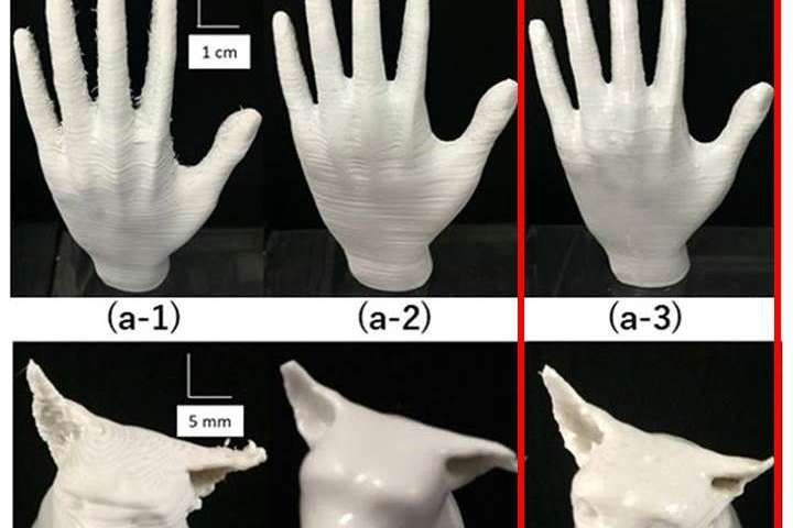 Dramatic improvement in surface finishing of 3-D printing