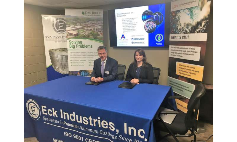 Eck Industries exclusively licenses cerium-aluminum alloy co-developed by ORNL