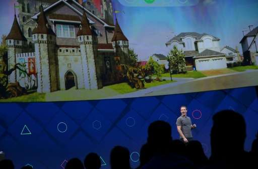 """Facebook CEO Mark Zuckerberg unveils a push to bring augmented-reality features to applications for smartphones to extend """""""