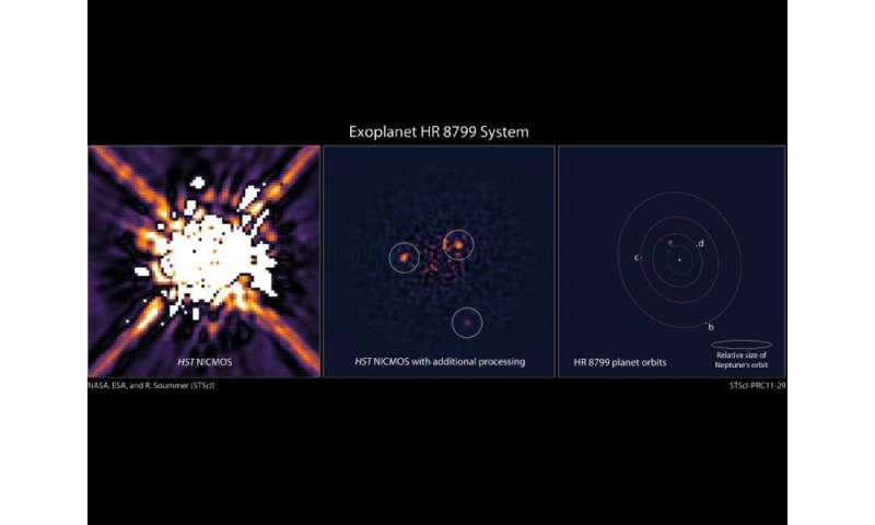 Four-planet system directly imaged in motion