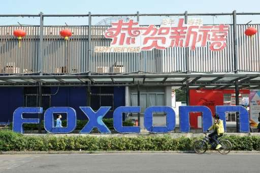 """Foxconn, a major supplier to Apple, had earlier said it was in """"preliminary discussions"""" with US officials about a pot"""